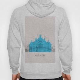 Antwerp Landmarks Poster Hoody