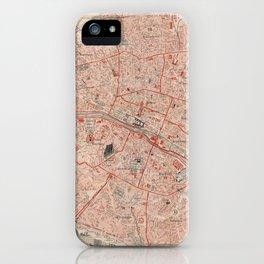 Vintage Map of Paris France (1892) iPhone Case