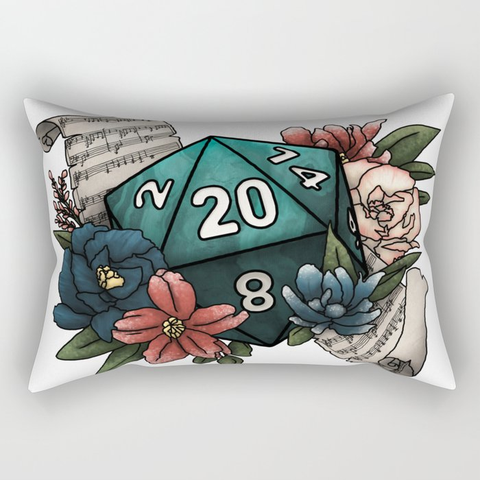 Bard Class D20 - Tabletop Gaming Dice Rectangular Pillow
