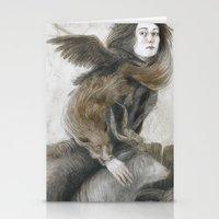 inner demons Stationery Cards featuring Demons by Jana Heidersdorf Illustration