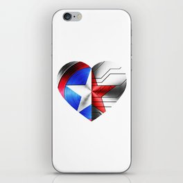 Stucky heart until the end of the line iPhone Skin