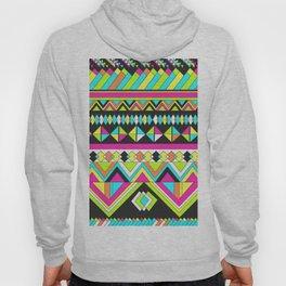 Geometric Bright Stripe Hoody