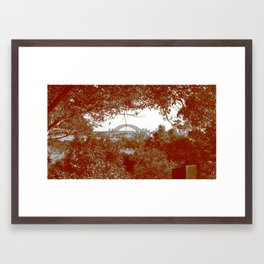 Harbour Bridge through the trees Framed Art Print