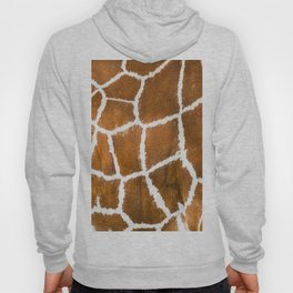 Close-up view of Giraffe fur pattern. Animal skin background, animal print background. Genuine leather skin of giraffe  Hoody