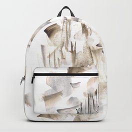 180630 Grey Black Brown Abstract Watercolour 2| Watercolor Brush Strokes Backpack