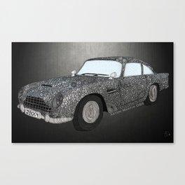 James Bond Aston Martin DB5 Canvas Print