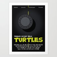 teenage mutant ninja turtles Art Prints featuring Teenage Mutant Ninja Turtles by Vloh