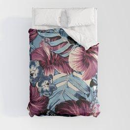 Vintage Chambray Burgundy Aloha Comforters