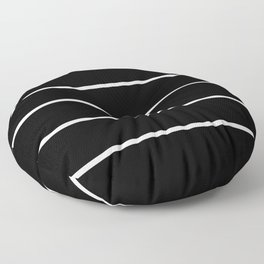 Black White Pinstripes Minimalist Floor Pillow