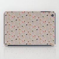 mid century modern iPad Cases featuring Atomic Circle Mid-Century Pattern by Two if by Sea Studios