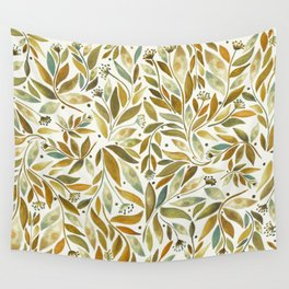 Leafy Brown Wall Tapestry