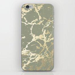 Kintsugi Ceramic Gold on Green Tea iPhone Skin
