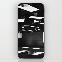 High Contrast Black and White modern day classroom iPhone Skin