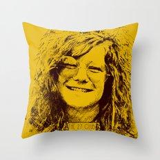 27 Club - Joplin Throw Pillow