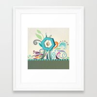 polygon Framed Art Prints featuring Polygon monument by /CAM