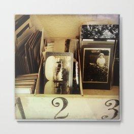 vintage photos + box Metal Print