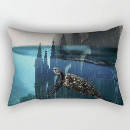 City under water Rectangular Pillow
