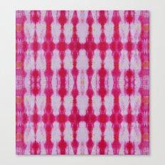 Fuchsia Tie Dye Stripe 1 Canvas Print