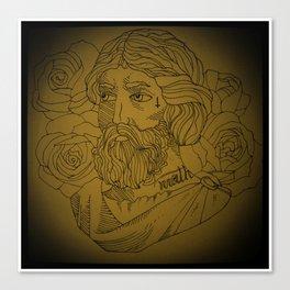 Tattooed Pythagoras Canvas Print