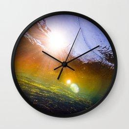 Rainbow Zizania Wall Clock