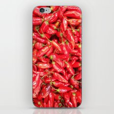 UN ROJO AJÍ EN PALOQUEMAO - RED HAXÍ IN PALOQUEMAO iPhone & iPod Skin