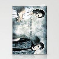 sam winchester Stationery Cards featuring Supernatural - Sam & Dean Winchester by ElvisTR