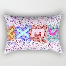 Geometric - Sexy triangles Rectangular Pillow