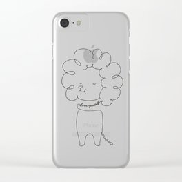 Love Yourself Lion Clear iPhone Case