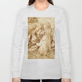"Dante Gabriel Rossetti ""King Arthur and the Weeping Queens"" Long Sleeve T-shirt"