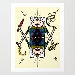 he who is the arbiter of justice and the meter of punishment  Art Print
