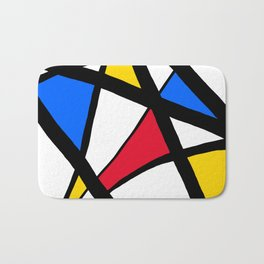 Red, Yellow, Blue Primary Abstract Bath Mat