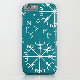Viking Compass and runes iPhone Case