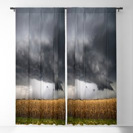 Corn Field - Storm Over Withered Crop in Southern Kansas Blackout Curtain