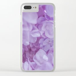 Lyrical Lilacs Clear iPhone Case