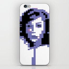 8 Bit Portrait of a Girl iPhone Skin