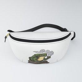 Vaping Toad | Vape Vaper Frog Animal Chill Relax Fanny Pack