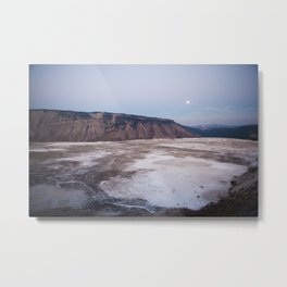 Mammoth Hot Springs; Yellowstone National Park Metal Print