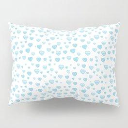 Blue Hearts Field Pillow Sham