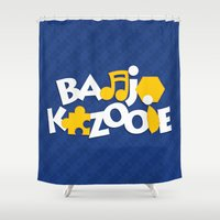 banjo Shower Curtains featuring Banjo-Kazooie - Blue by Byway