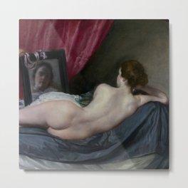 """Diego Velázquez """"The Rokeby Venus (The Toilet of Venus, Venus at her Mirror, Venus and Cupid)"""" Metal Print"""