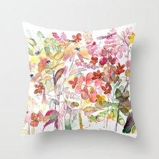 Wild flowers IV Throw Pillow