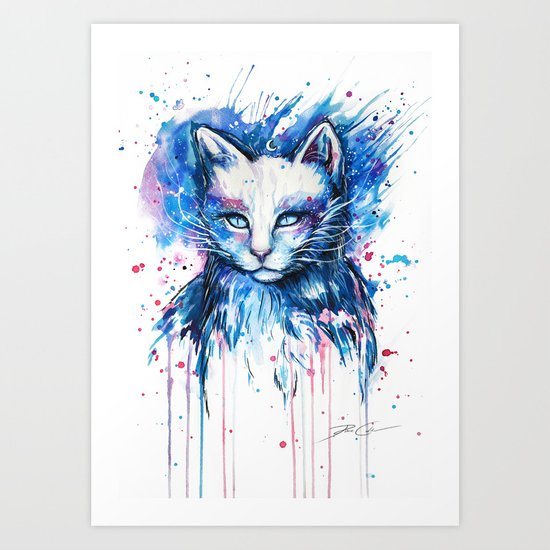 """Space cat"" Art Print"