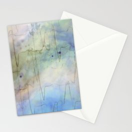 Watercolored Love Scene - Heartbeat Blues Stationery Cards