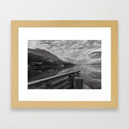 Morning on Bohinj Lake, Slovenia.  Framed Art Print
