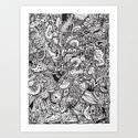 Detailed rectangle, black and white by camcreative