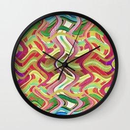 409 - Abstract Colour Design Wall Clock