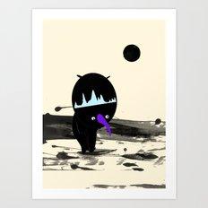 Man On The Moon Art Print