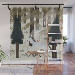 the fox and unicorn Wall Mural