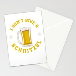 I Don't Give A Schnitzel Oktoberfest Beer Festival Stationery Cards