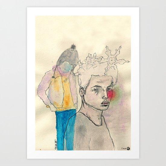 Frío Art Print